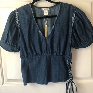 Esley denim top